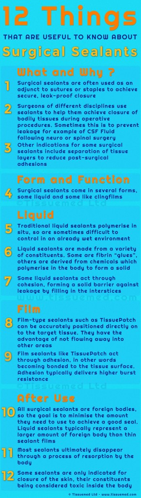12 things about surgical sealants