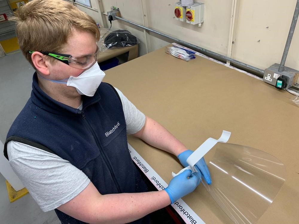 Blatchford Orthotics turns visor maker