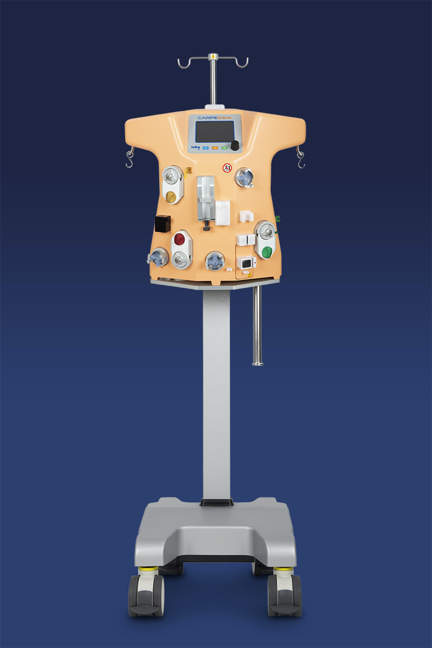 Carpediem is the first and only pediatric cardio-renal dialysis machine